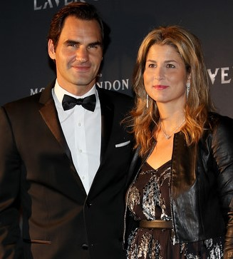 Roger Federer with his wife, Mirka Federer. | Source: Zimbio.com