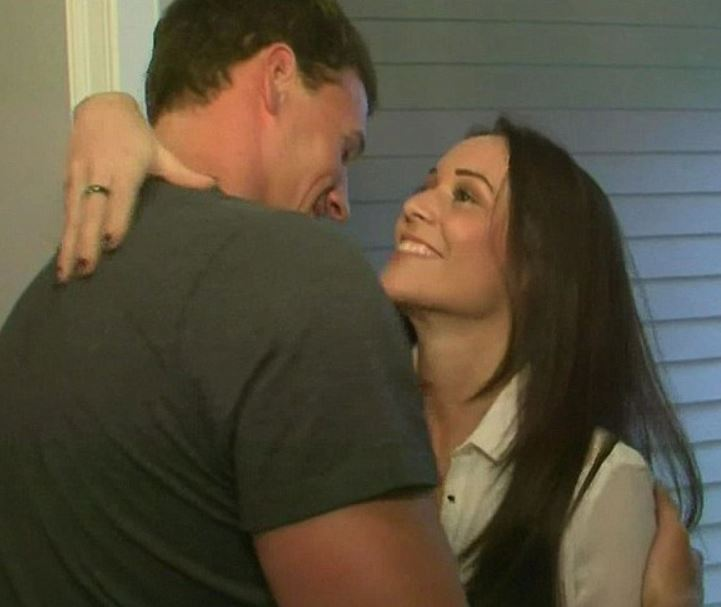 Ryan Lochte with his ex-girlfriend, Jaimee Hollier. | Source: dailymail.co.uk