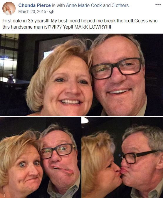 Mark Lowry giving weird poses with longtime friend, Chonda Pierce. | Source: Facebook