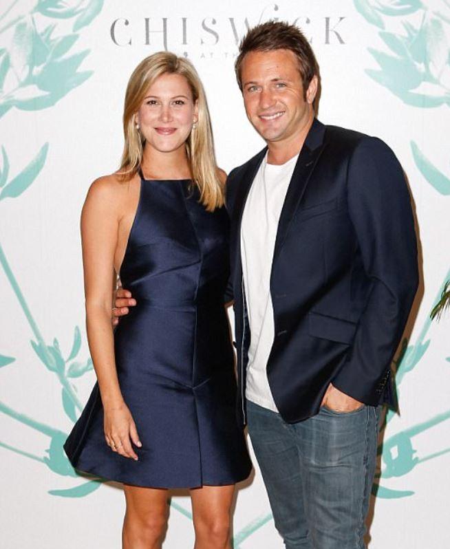 Justine Schofield with her ex-boyfriend, Matt Doran.   Source: dailymail.co.uk