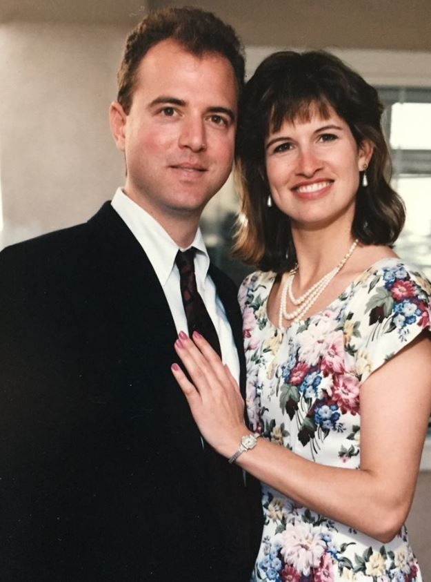 Adam Schiff with his wife, Eve. | Source: Facebook