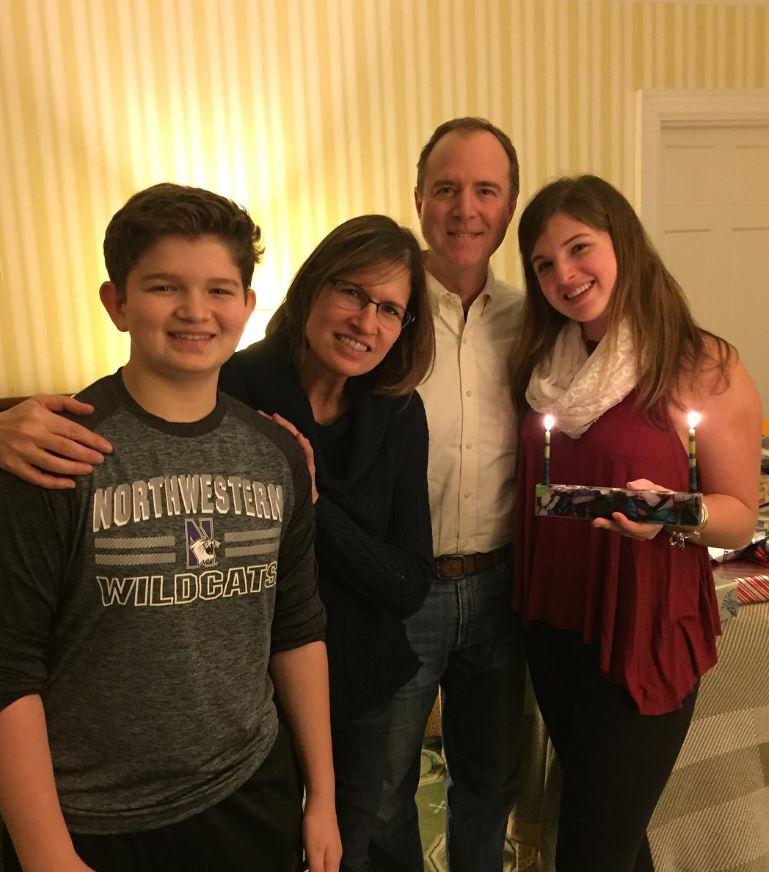Adam Schiff with Children}}