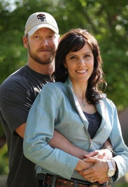 Taya Kyle with her late husband, Chris Kyle. Source: oregonlive.com