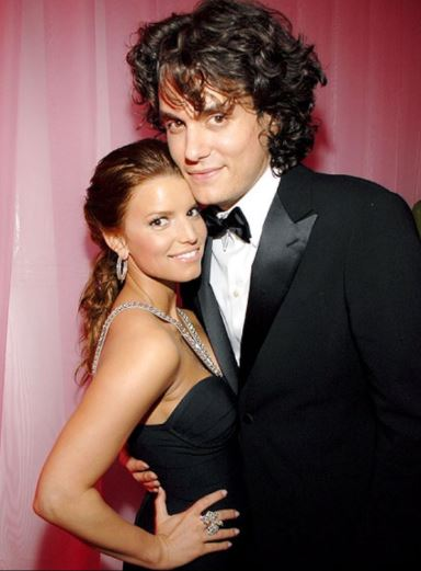 Jessica Simpson and her Ex-Boyfriend John Mayer | Source: Pinterest