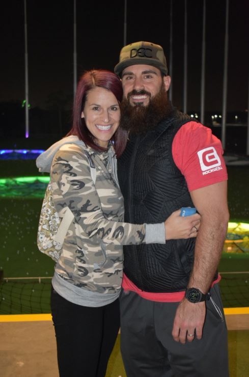 Eric Weddle with his wife, Chanel Weddle. | Source: Twitter.com