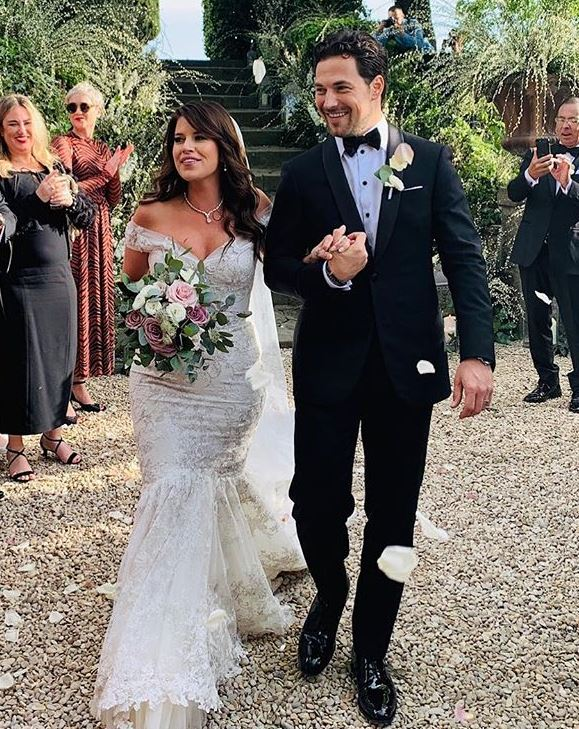 Giacomo Gianniotti with his wife Nichole Gustafson. | Source: Instagram