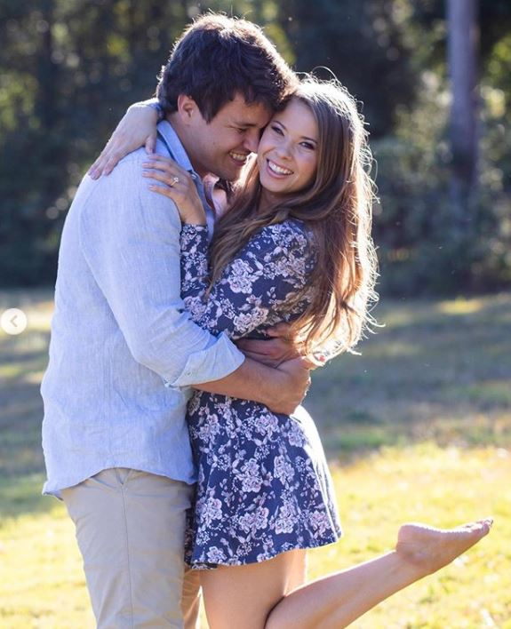 Chandler Powell with his fiancee, Bindi Irwin. | Source: Instagram.com