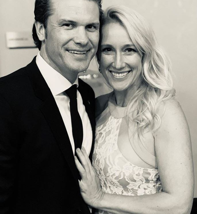 Pete Hegseth with his wife, Jennifer Cunningham. | Source: Instagram.com