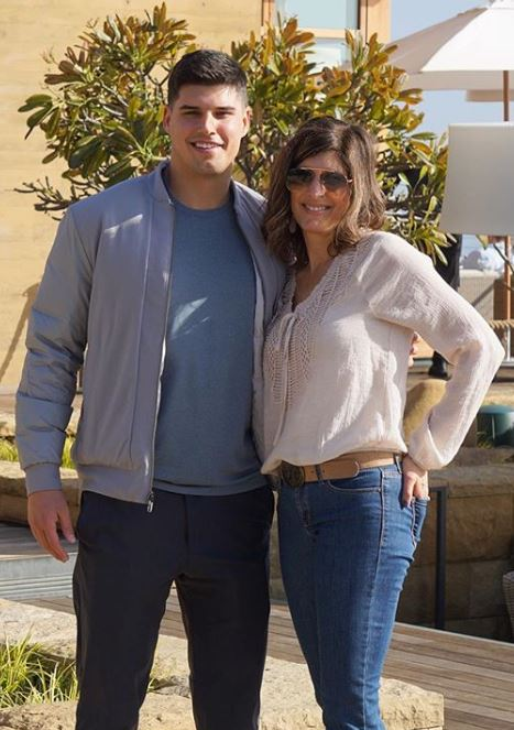 Mason Rudolph with Parent/s}}