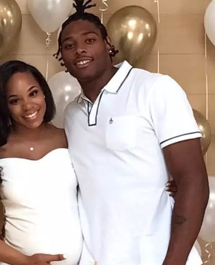 Jalen Ramsey with his girlfriend Breanna Tate | Source: Sportsgossip.com