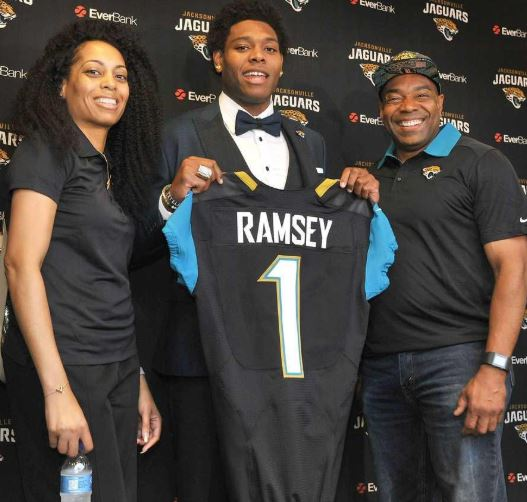 Jalen Ramsey with Parent/s}}