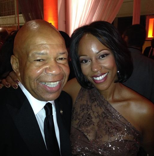 Late Elijah Cummings with his wife Maya Rockeymoore Cummings | Source : flickr.com