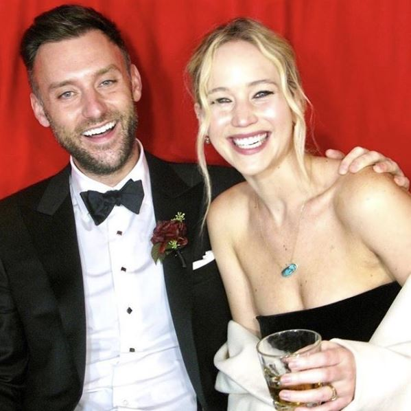 Jennifer Lawrence and her husband, Cooke Maroney | Source: Instagram.com