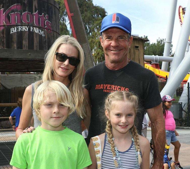 Kimberly Quaid with Children}}