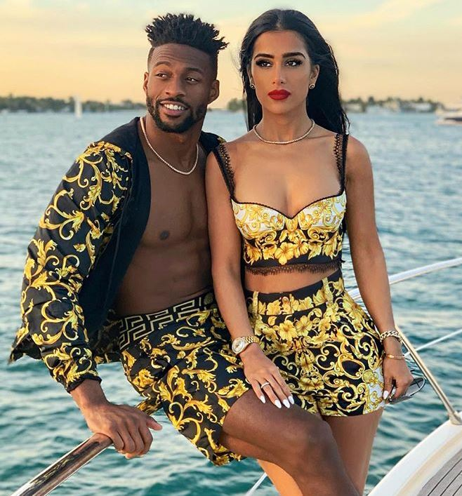 Gabriella Waheed with her husband, Emmanuel Sanders. | Source: Instagram.com
