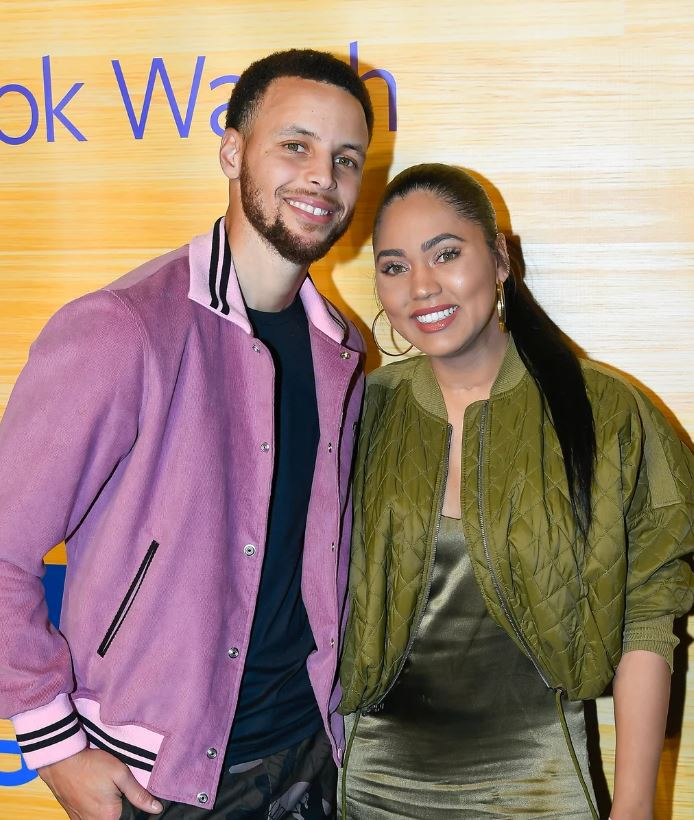 Stephen Curry with his actress wife, Ayesha Curry. | Source: Gettyimages.com