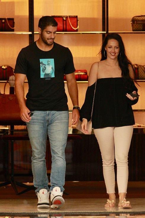 Jimmy Garoppolo with his ex-girlfriend, Alexandra King.   Source: dailymail.co.uk