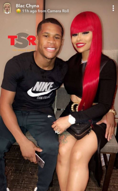 Devin Haney with his rumored girlfriend, Blac Chyna. | Source: theshaderoom.com