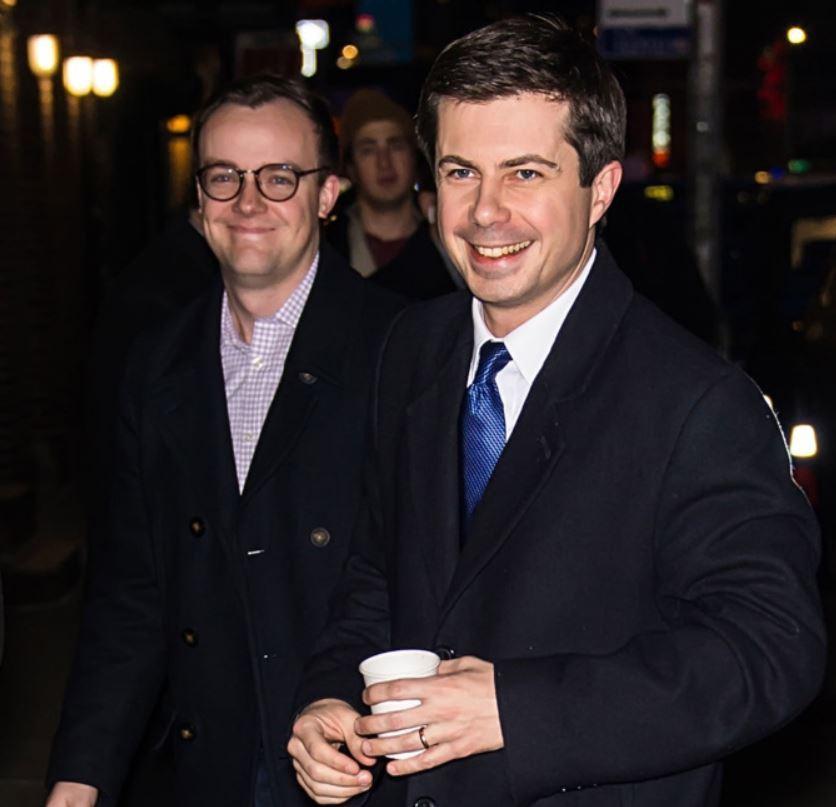 Chasten Glezman with his husband, Pete Buttigieg.