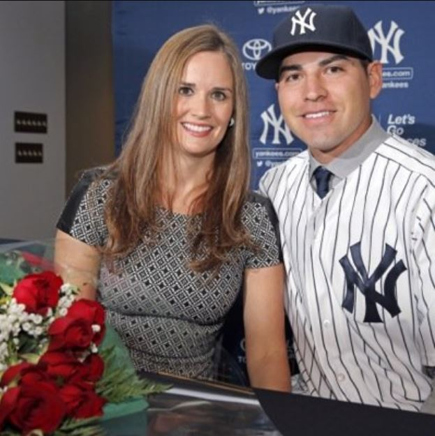 Jacoby Ellsbury with his wife, Kelsey Hawkins. | Source: Twitter.com