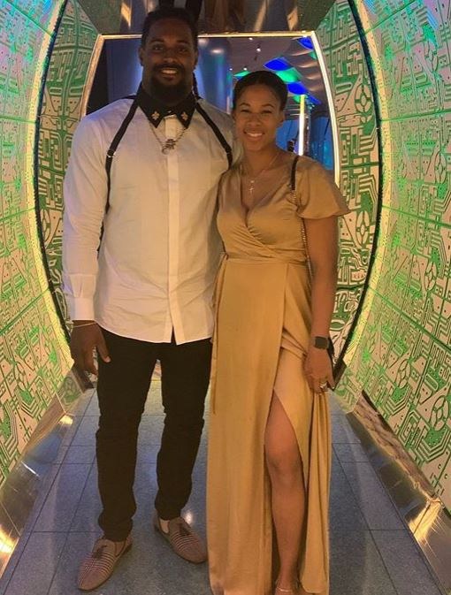 Cameron Jordan with his wife, Nikki Speed. | Source: Instagram.com