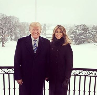 Melania Trump and her husband, Donald trump | Source: Instagram