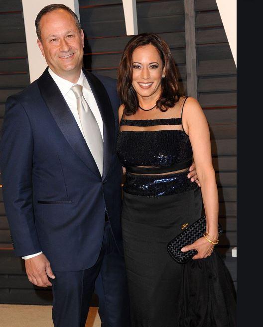 Kamala Harris with her husband, Douglas Emhoff. | Source: marieclaire.com