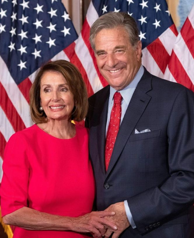 Nancy Pelosi with her husband, Paul Pelosi. | Source: thesun.co.uk