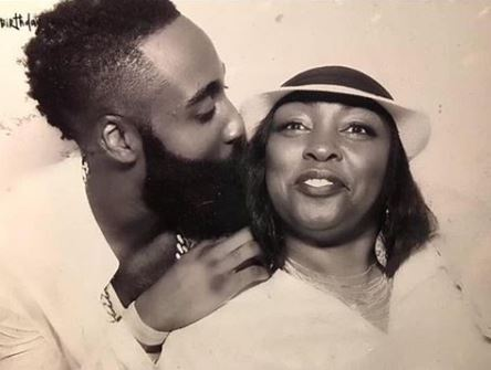 James Harden with Parent/s}}