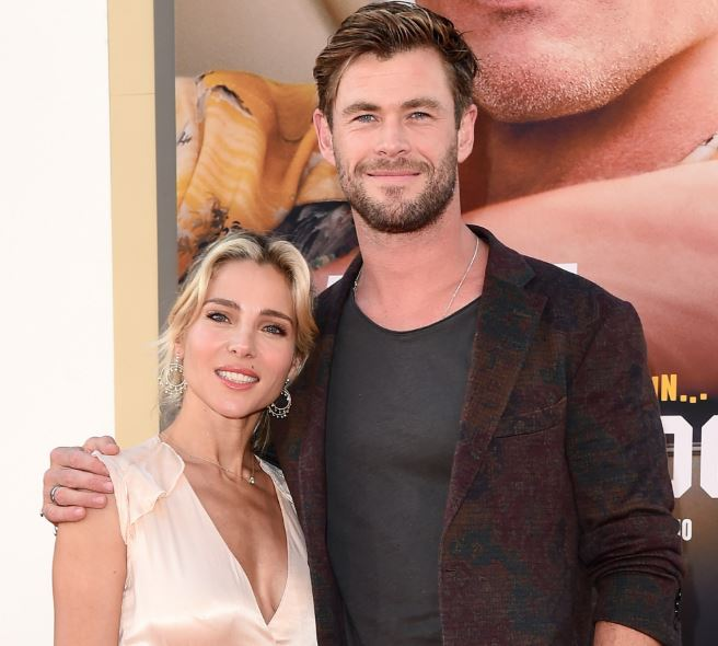 Elsa Pataky with her husband, Chris Hemsworth. | Source: people.com