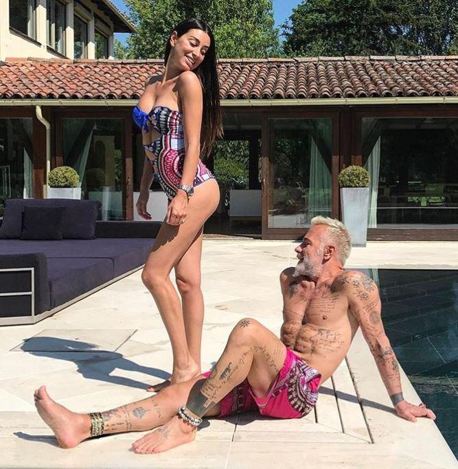 Giorgia Gabriele with her ex-partner, Gianluca Vacchi . | Source: Instagram.com