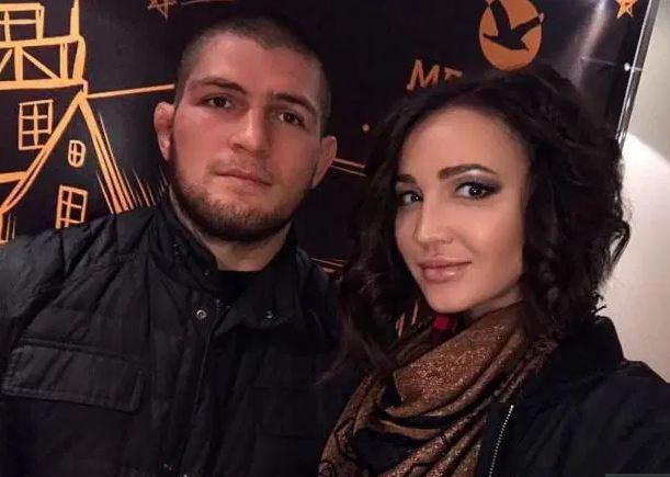 Khabib Nurmagomedov with his wife | Source: thesun.co.uk