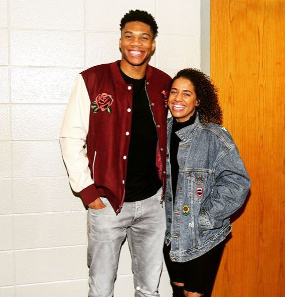 Mariah Riddlesprigger with her partner, Giannis Antetokounmpo. | Source: Instagram.com