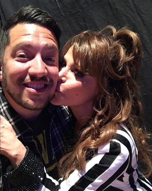 Sal Vulcano with Paula Abdul. | Source: Sal's Instagram