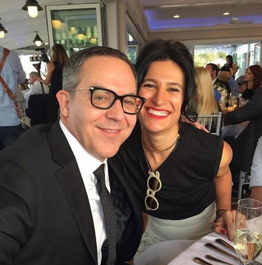 Greg Gutfeld with his wife, Elena Moussa | Source: Instagram