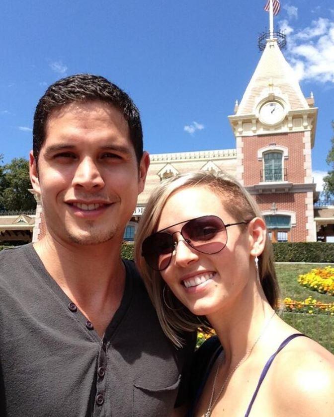 Emily Frlekin with her husband, J. D. Pardo.