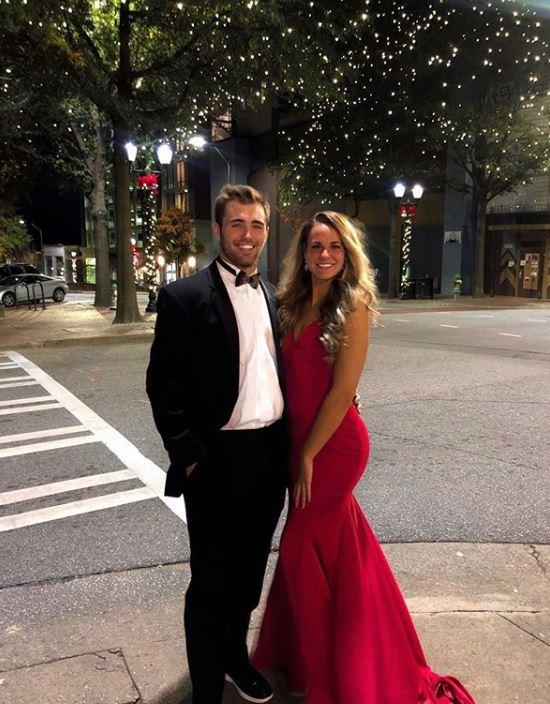 Caroline Barrett Ostman with her boyfriend, Jake Fromm. | Source: Caroline's Instagram