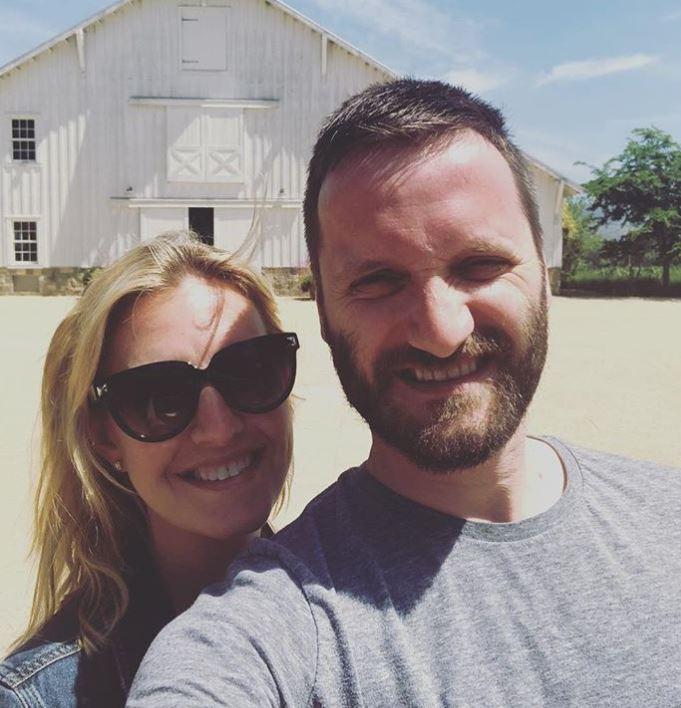Poppy Harlow with her husband, Sinisa Babcic.   Source: Poppy's Instagram