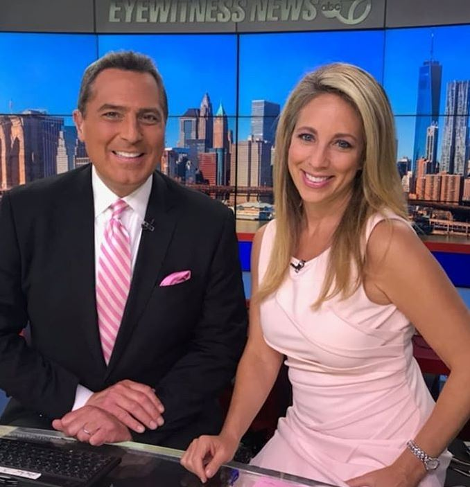 Ken Rosato with his, co-anchor. | Source: Ken's Instagram