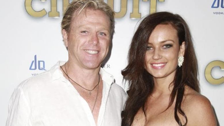 Dermott Brereton with his ex-girlfriend, Steph. | Source: heraldsun.com.au