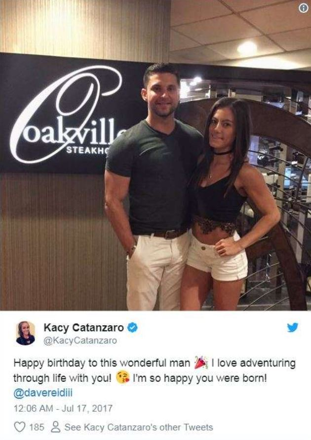 Kacy Catanzaro with her ex-boyfriend, Dave. | Source: Kacy's Twitter