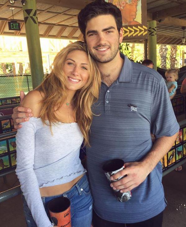 Perry Mattfeld with her boyfriend, Andrew Wright. | Source: Instagram