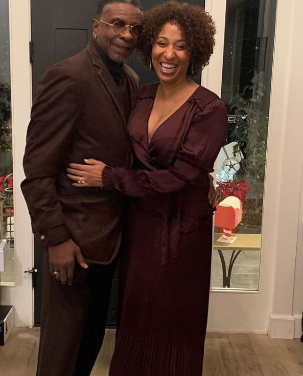 Dionne Lea Williams with her husband, Keith David. | Source: Instagram