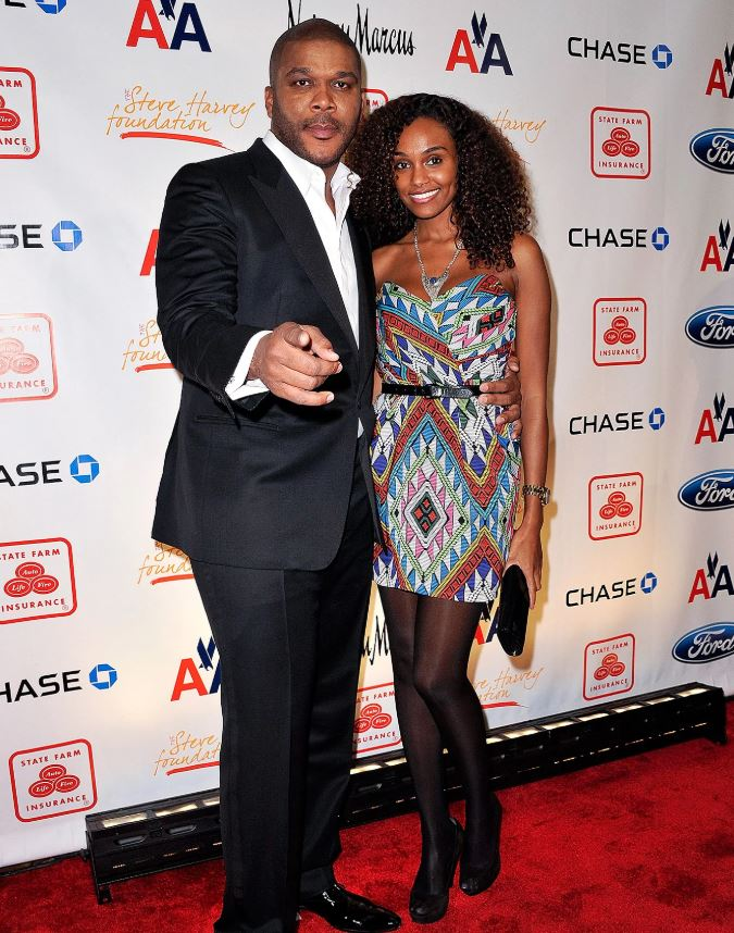 Gelila Bekele with her long-term partner, Tyler Perry. | Source: People.com