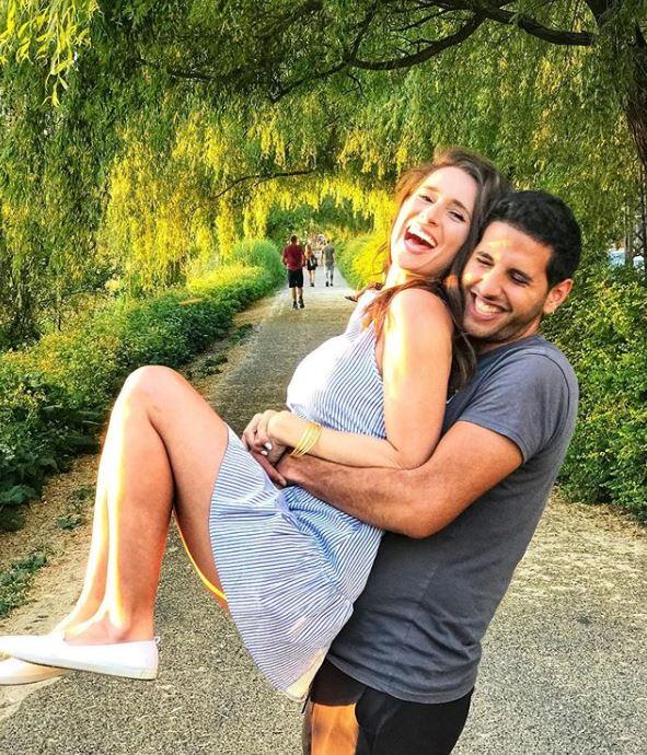 Nuseir Yassin with his girlfriend, Alyne Tamir. | Source: Instagram