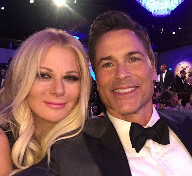 Sheryl Berkoff with her husband, Rob Lowe. | Source: Instagram