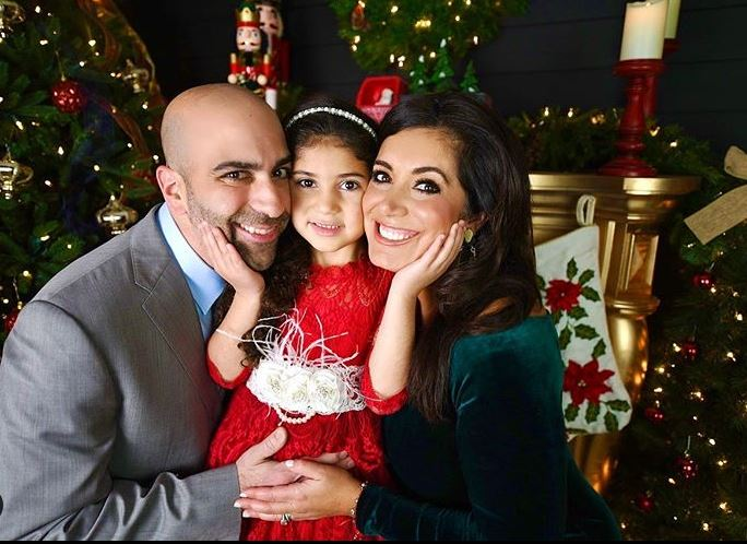 Alicia Vitarelli with her husband, Matthew Pantaleno & daughter, Priscilla Isabelle. | Source: Instagram
