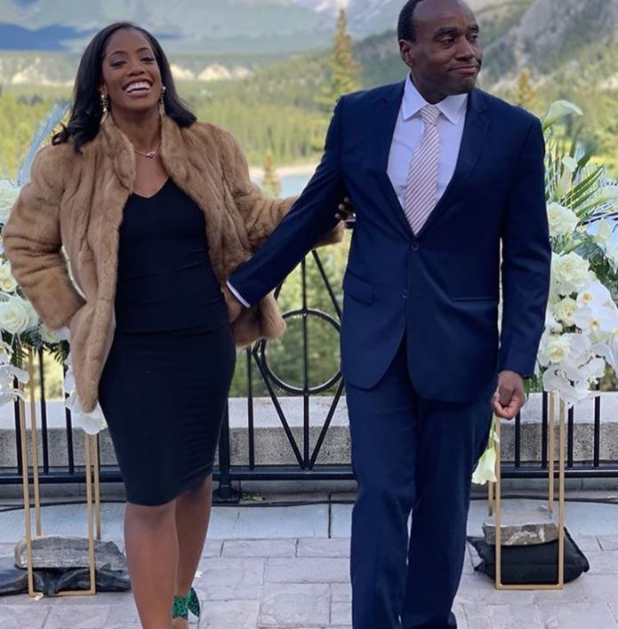 Candace McCowan with her husband, Halton Peters. | Source: Instagram
