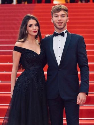 Pierre Gasly with his wife | Source: Instagram