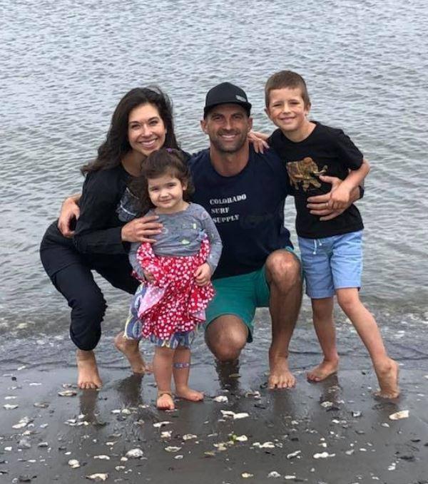 Benjamin Nielsen with his wife, Ana Cabrera & children. | Source: Facebook